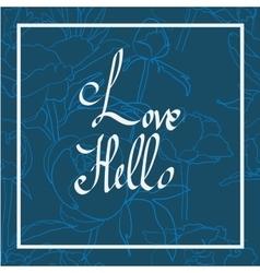 Handwritten love script vector