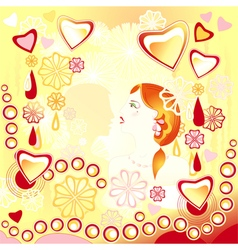 Young loving couple on an abstract background vector