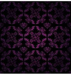 seamless pattern ornament lilac floral vector image