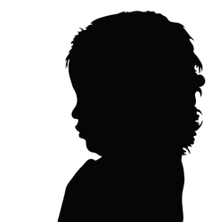 Girl cute silhouette vector