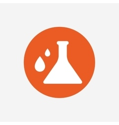 Chemistry sign icon bulb symbol with drops vector
