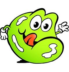 An happy wine gum vector