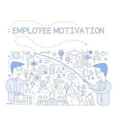 Employee motivation concept infographic vector