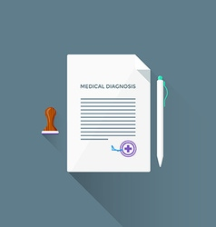 Flat medical diagnosis icon vector