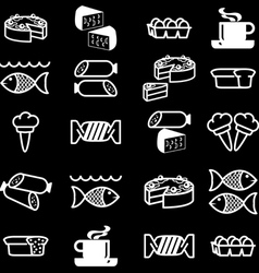 food theme icons vector image