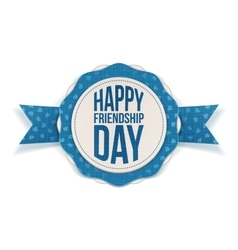 Happy friendship day realistic banner vector