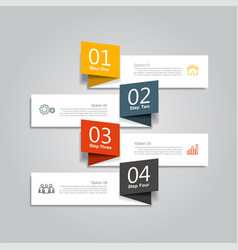Infographic template used vector