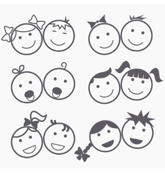 Kids icons vector image vector image