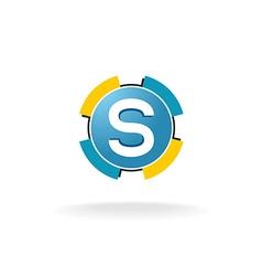 Letter s tech logo vector