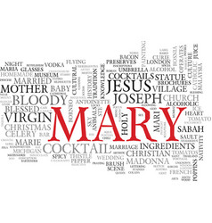 Mary word cloud concept vector