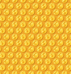 Money seamless patterns vector image