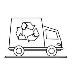 Recycling truck eco freindly related icon image vector