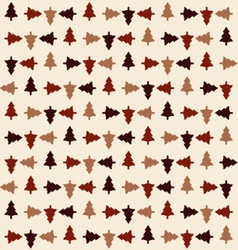Rotation Christmas tree pattern vector image