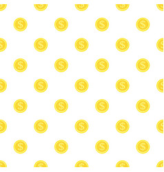 seamless background gold coins vector image vector image