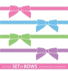 set of bows vector image vector image
