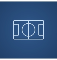 Stadium layout line icon vector