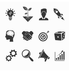 Startup and creative icons vector image vector image