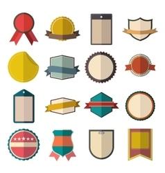 Vintage badges set vector image vector image