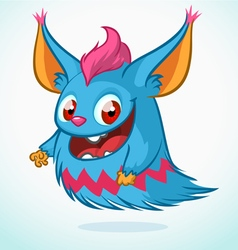 Cute monster cartoon Halloween vector image
