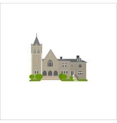 Flat icon of baptist church vector