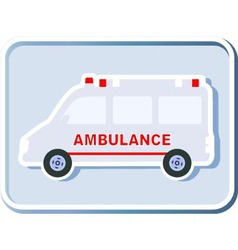 icon with isolated ambulance vector image