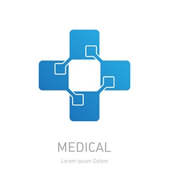 High-tech medicine logo medical logotype design vector