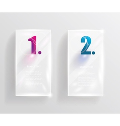 Collection of transparent glass banners vector