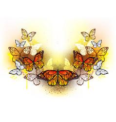 symmetrical pattern of butterflies monarchs vector image