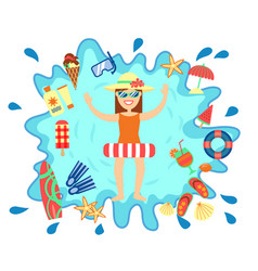 Beach summer splash fun concept vector