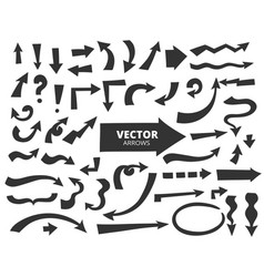 set of cartoon arrows hand drawn design elements vector image