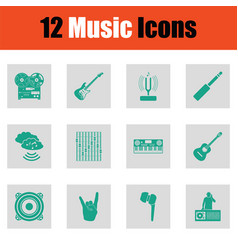 Set of musical icons vector