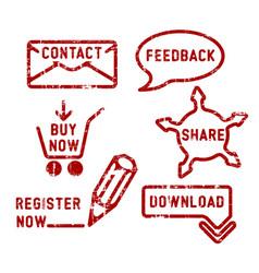 Simple contact feedback share buy download vector