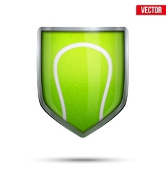 Bright shield in the tennis ball inside vector