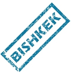 Bishkek rubber stamp vector