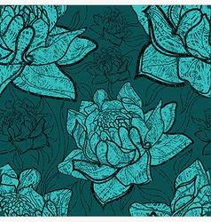 flowers seamless 01 grunge vector image