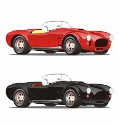 convertible cars vector image