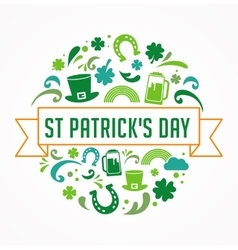 St patrics day poster vector