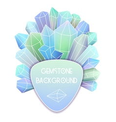 Soft triangle label with crystal splash beside it vector