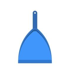 Blue dustpan flat vector image