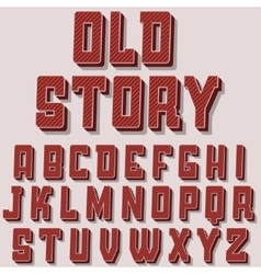 Vintage alphabet font old style typeface vector