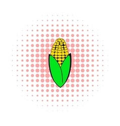 Corncob icon in comics style vector