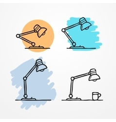 Sketchy table lamp vector