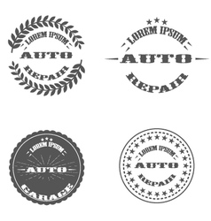 Auto repair printing stamp logo and pictures vector