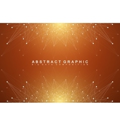 Big data complex graphic abstract background vector