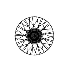 Black spoke wheel vector