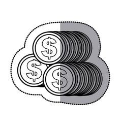 Coin icon stock image vector