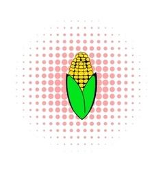 Corncob icon in comics style vector