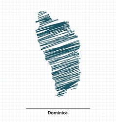 Doodle sketch of Dominica map vector image vector image
