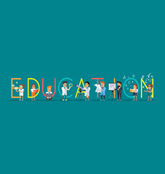 education banner science alphabet vector image vector image