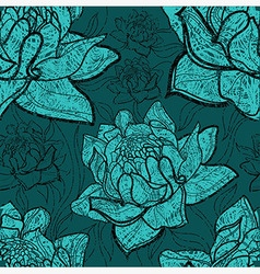 Flowers seamless 01 grunge vector